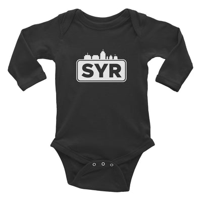 'SYR City Top' Infant Long Sleeve Bodysuit