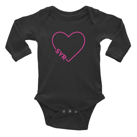 'SYR Heart' Infant Long Sleeve Bodysuit