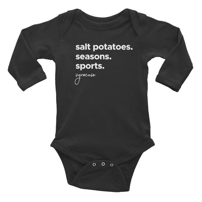 'The Three S Words' Infant Long Sleeve Bodysuit