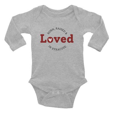 'Born, Raised & Loved in Syracuse' Long Sleeve Onesie (Special Fundraising Item!)