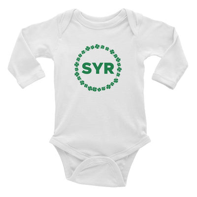 'SYR Shamrock' Infant Long Sleeve Bodysuit