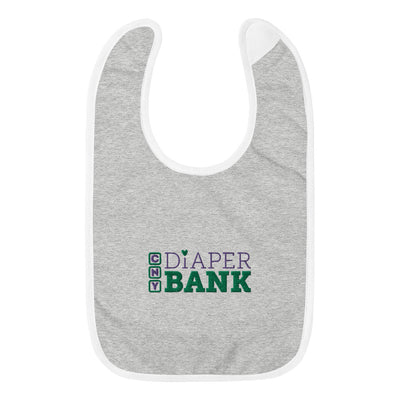 'CNY Diaper Bank' Embroidered Baby Bib