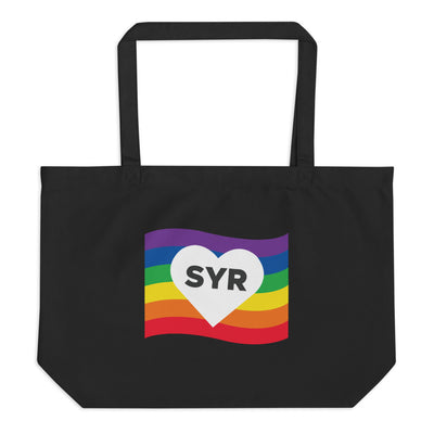 'SYR Rainbow' Large Organic Tote Bag