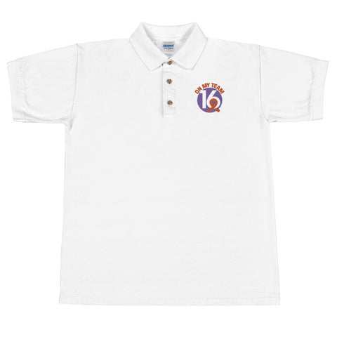 'OMT16' Men's Embroidered Polo Shirt