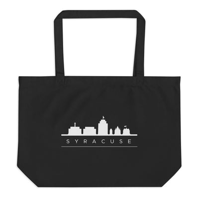 'Syracuse Skyline' Large Organic Tote Bag