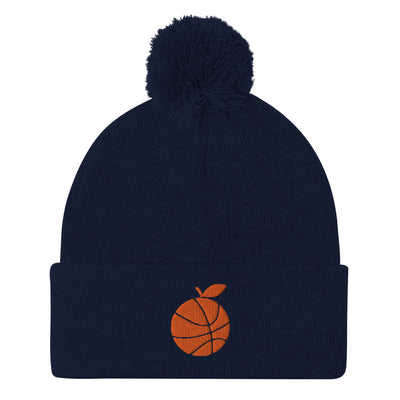 'Orange Basketball' Pom-Pom Beanie