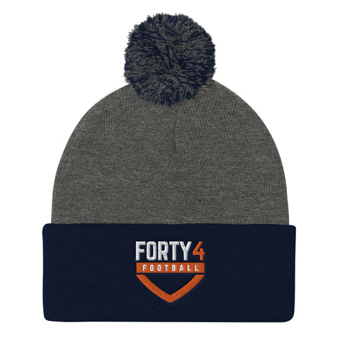 'Forty 4 Football' Pom Pom Knit Cap