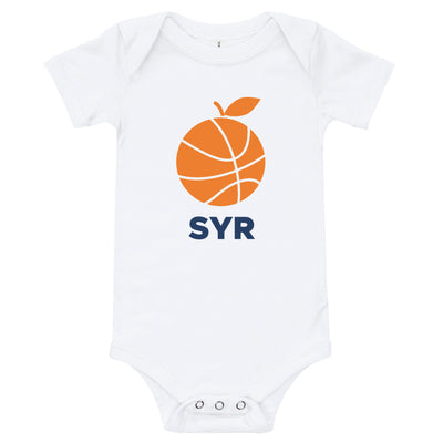 'Orange Basketball SYR' Baby Bodysuit
