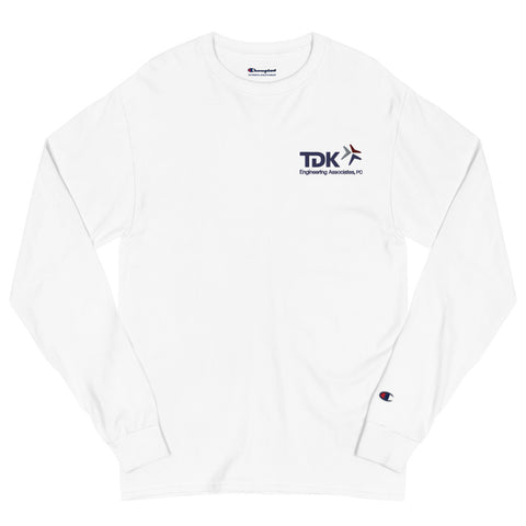 'TDK Engineering' Embroidered Men's Champion Long Sleeve Shirt