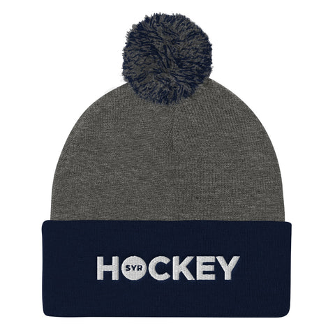 'SYR Hockey' Pom Pom Knit Cap