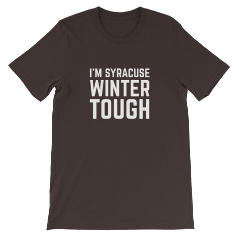 'Syracuse Winter Tough' Unisex Premium T-Shirt
