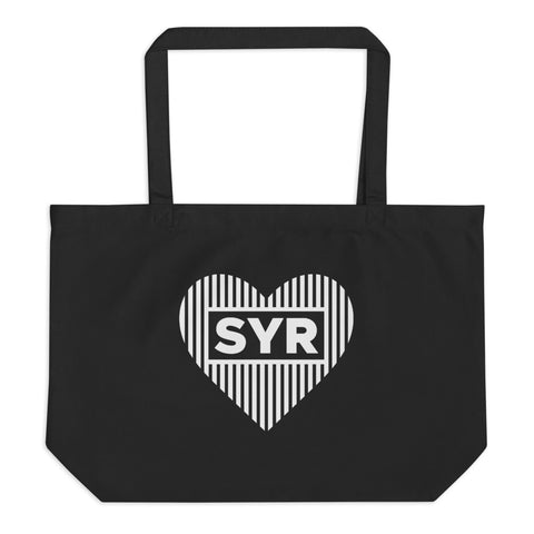'Styled SYR Heart' Large Organic Tote Bag