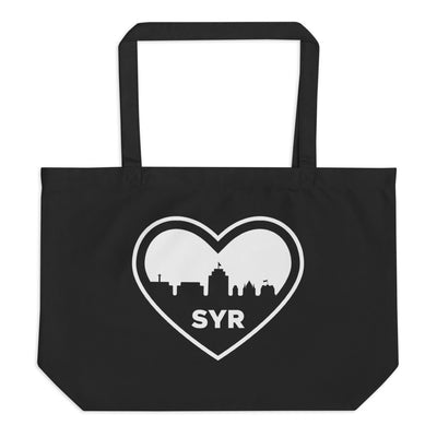 'SYR City Heart' Large Organic Tote Bag