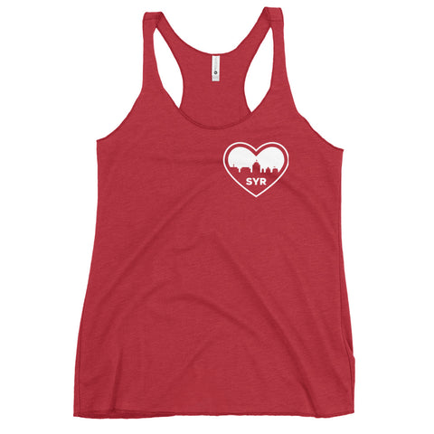 'SYR City Heart' Women's Racerback Tank