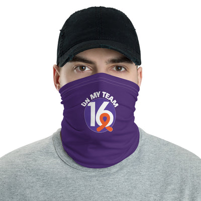 'OMT16' Purple Neck Gaiter