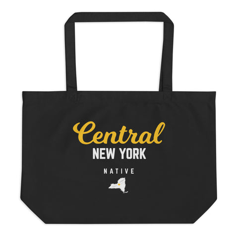 'Central New York Native' Large Organic Tote Bag