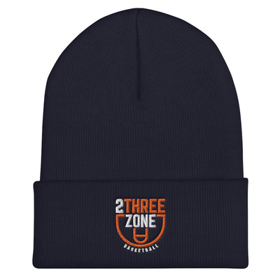 '2 Three Zone Basketball' Cuffed Beanie