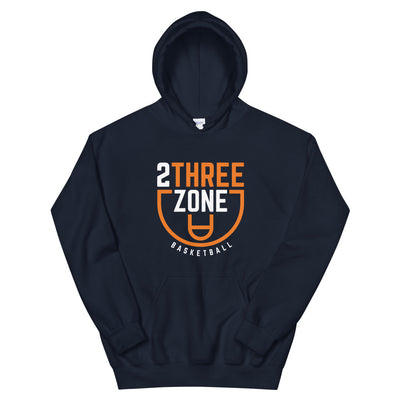 '2 Three Zone Basketball' Unisex Hoodie