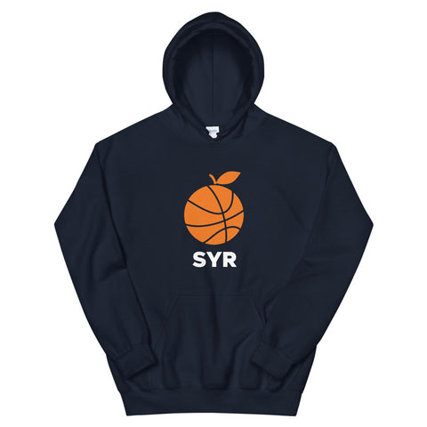 'Orange Basketball SYR' Unisex Hoodie