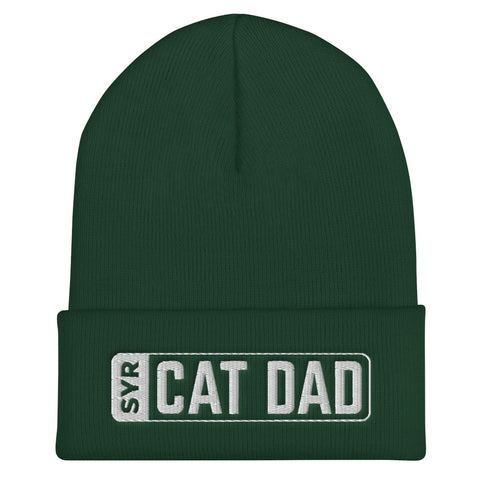 'SYR Cat Dad' Cuffed Beanie