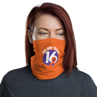 'OMT16' Orange Neck Gaiter