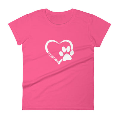 'Syracuse Paw Heart' Women's Cut Premium Tee