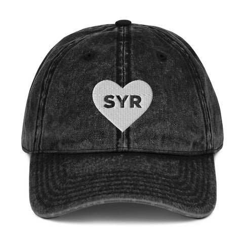 'Heart SYR' Vintage Cotton Twill Cap