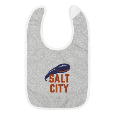 'Salt City Football' Embroidered Baby Bib