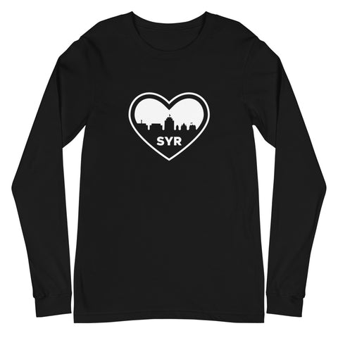 'SYR City Heart' Unisex Long Sleeve Tee