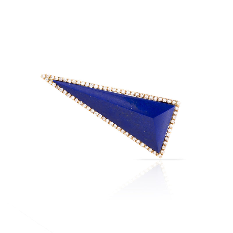 Pave Diamond Stone Pyramid Earring (more colors available)