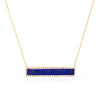 Pave Diamond Stone Bar Necklace (more colors available)