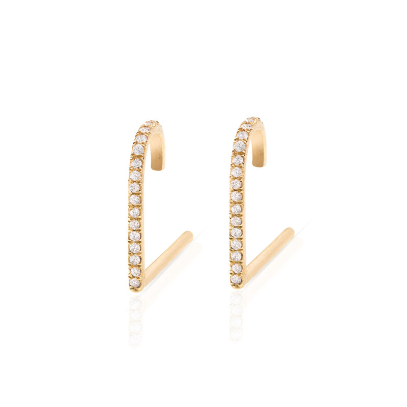 Pave Diamond Suspender Earring