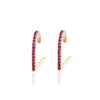 Pave Ruby Suspender Earring