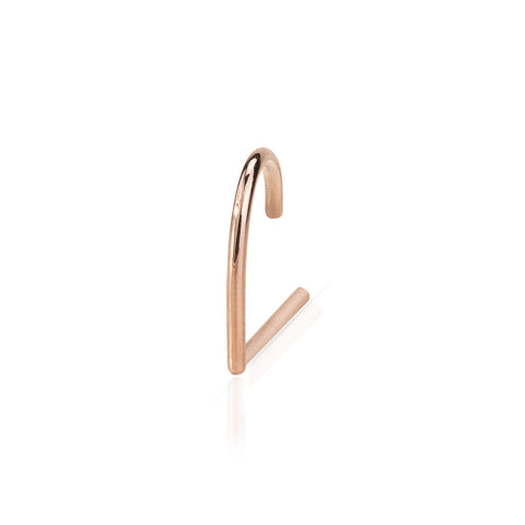 Solid Gold Suspender Earring