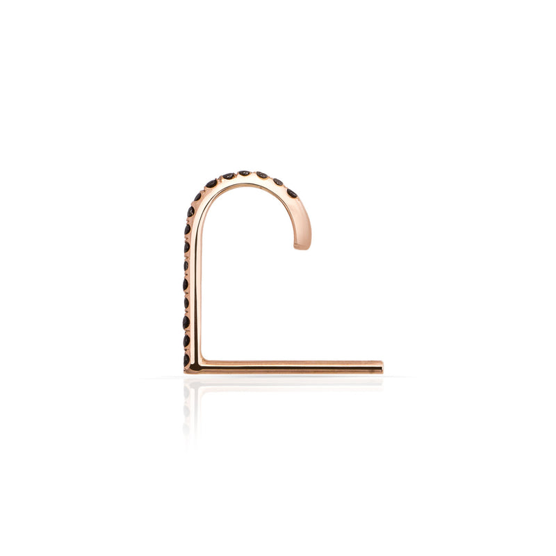 Pave Black Diamond Suspender Earring