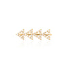 Pave Diamond Cutout Triangle Earring