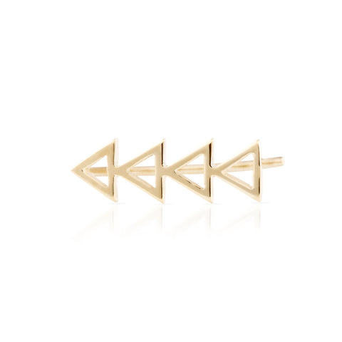 Cutout Triangle Earring