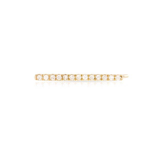 Pave Diamond Straight Bar Earring