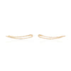 Pave Diamond Cutout Skimmer Earring