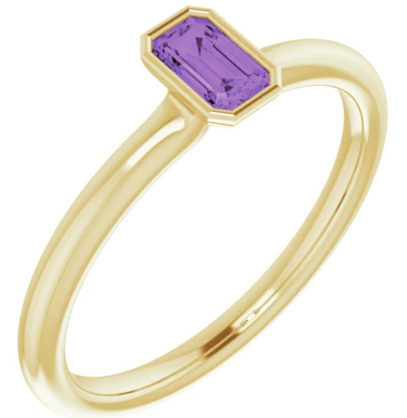 Birthstone Solitaire Ring