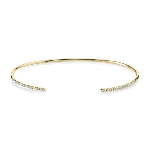 Open Pave Diamond Thin Cuff
