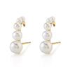 Graduated Pearl Suspender Earring