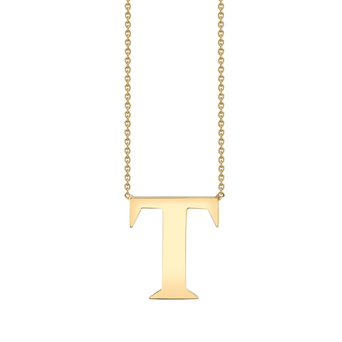 Large Gold Letter Necklace