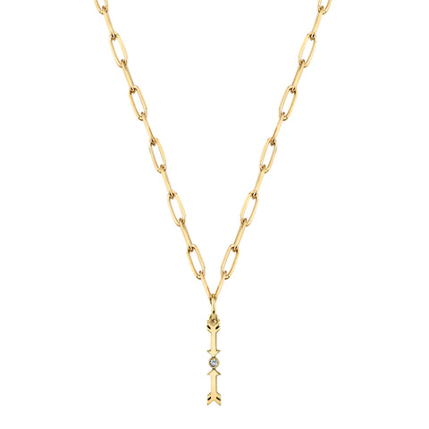 Gold And Diamond Protection Necklace