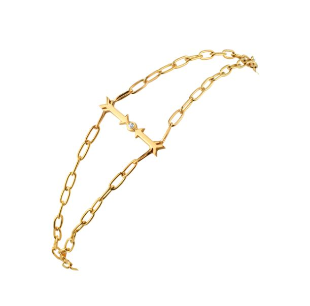 Gold And Diamond Protection Bracelet