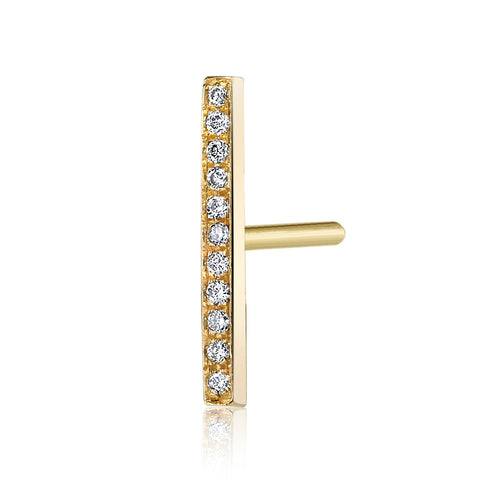 Pave Diamond Bar Stud