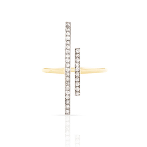 Pave Diamond Bar Ring