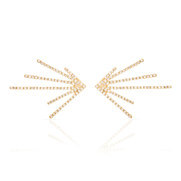 Pave Diamond Burst Earring
