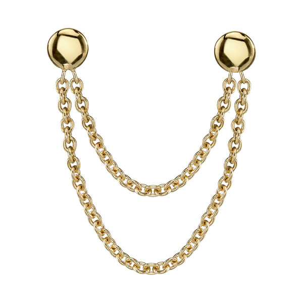 Double Thin Chain Earring