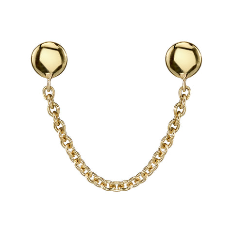 Single Thin Chain Earring